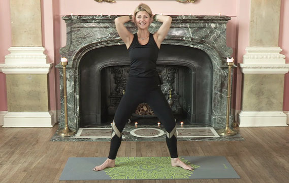 Jo Tuffrey doing a spread your wings arm exercise